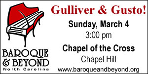 Baroque and Beyond concert on March 4