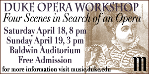 Duke Opera Workshop on April 18-19